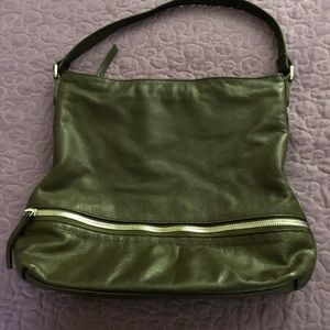 Margot leather bag Olive/brown color